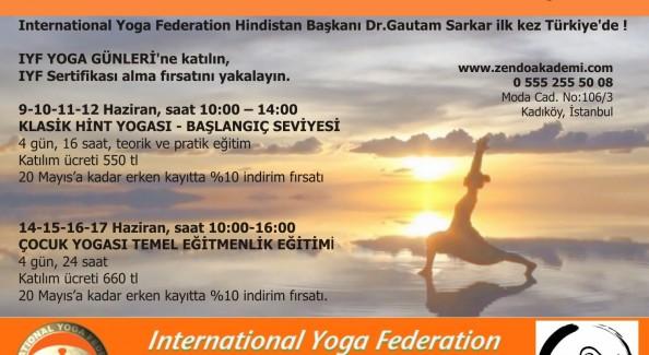 IYF YOGA GÜNLERİ, 9 -19 Haziran 2015, İstanbul